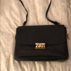 Jcrew black leather crossbody bag